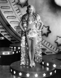 Ginger Rogers Wearing Coin Cape Costume from the Film Gold Diggers of 1933.